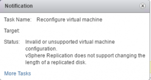 Error Message vRA