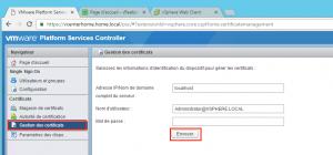 Login Gestion des certificats