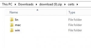 Fichier ZIP certificats